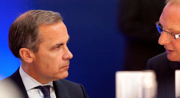 Governor of the Bank of England in discussion