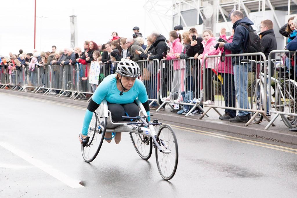 Baroness Grey-Thompson, DBE  derby 10k 2014