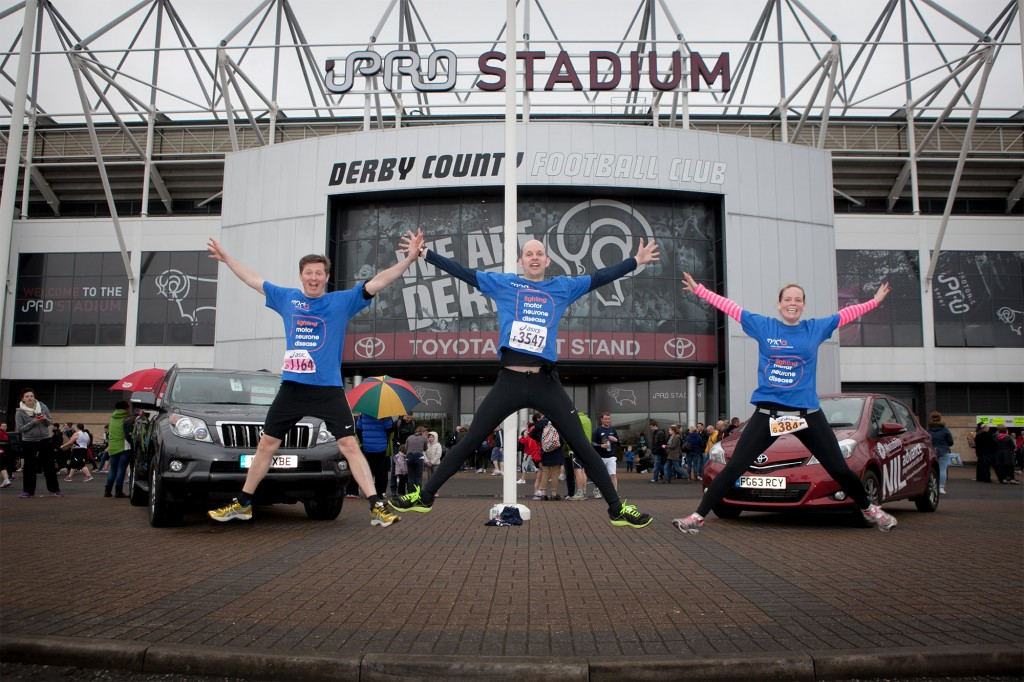 Happy charity runnsers at the Derby 10k 2014