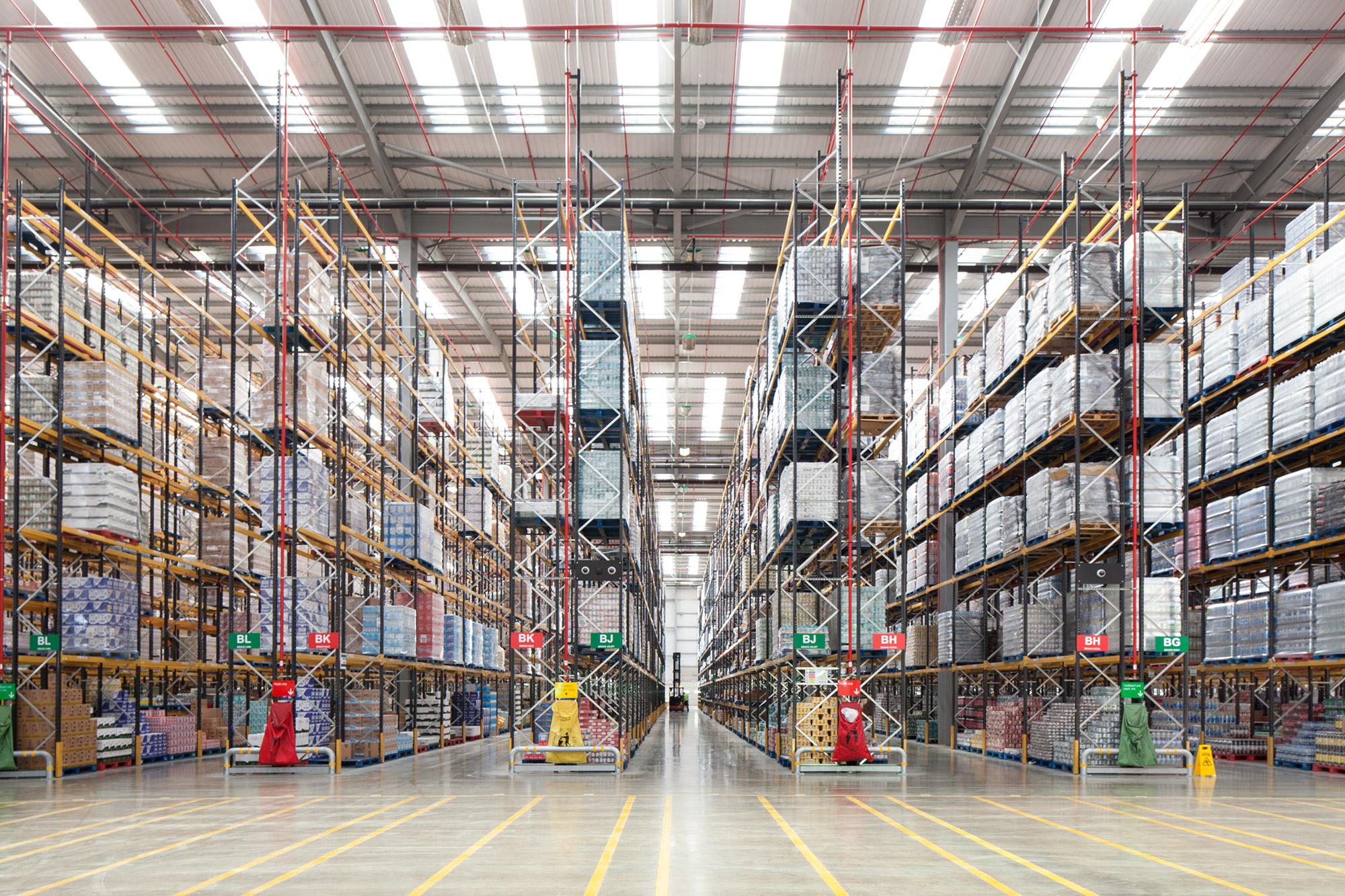 Co op Disrtribtion Centre dispatch high shelves