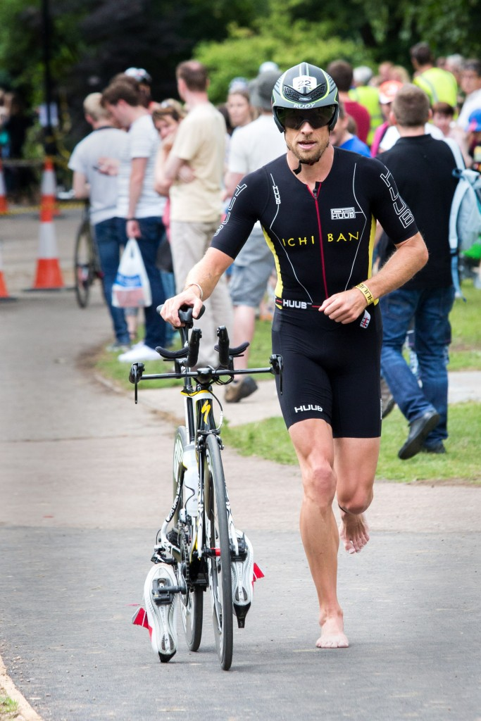 Jenson Button about to enter transition.