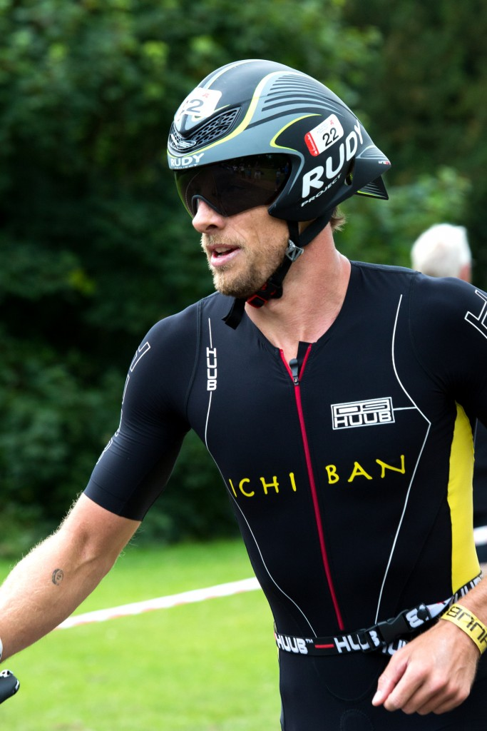 Jenson Button at the 2015 Jenson Button Trust Triathlon