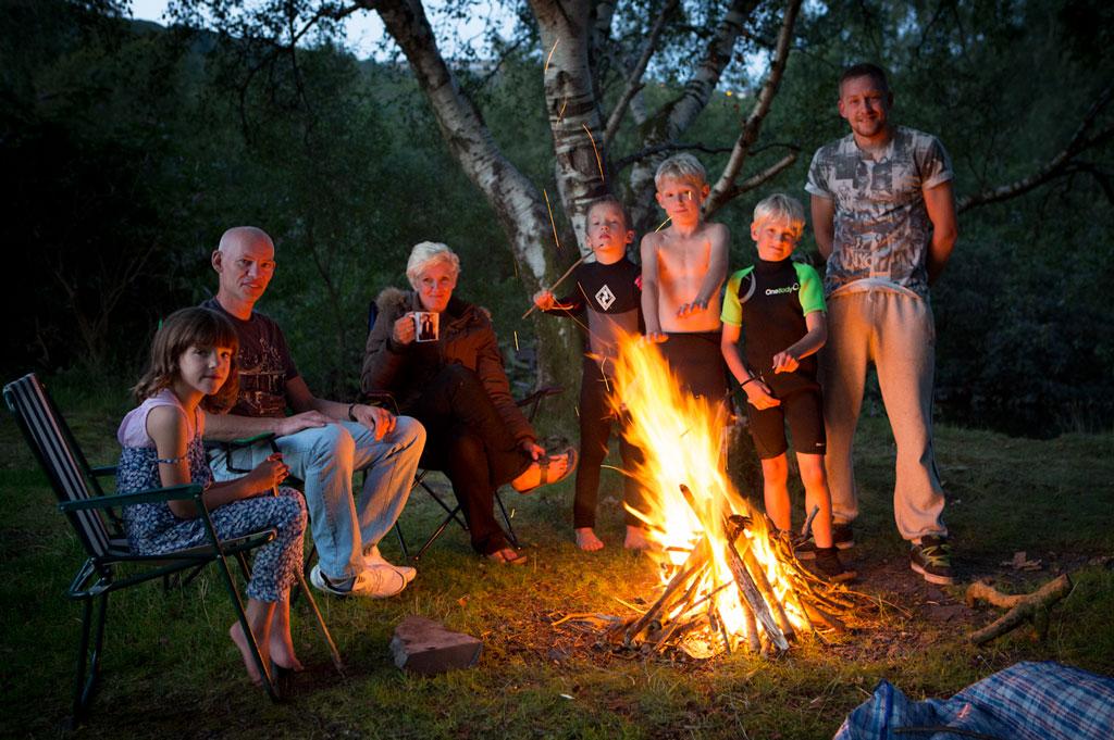 Campside fire