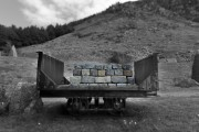 Cart at abonandoned Quarry Nant Gwrtheyrn