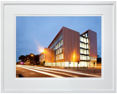 Friargate Square Derby evening shot in white frame