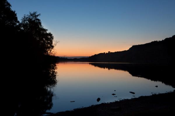 Lake Llyn Padarn Dusk