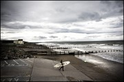 Winter Surfer Tywyn Beach