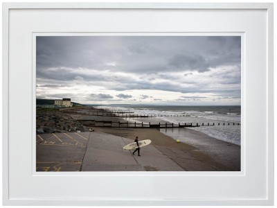 Winter Surfer white frame