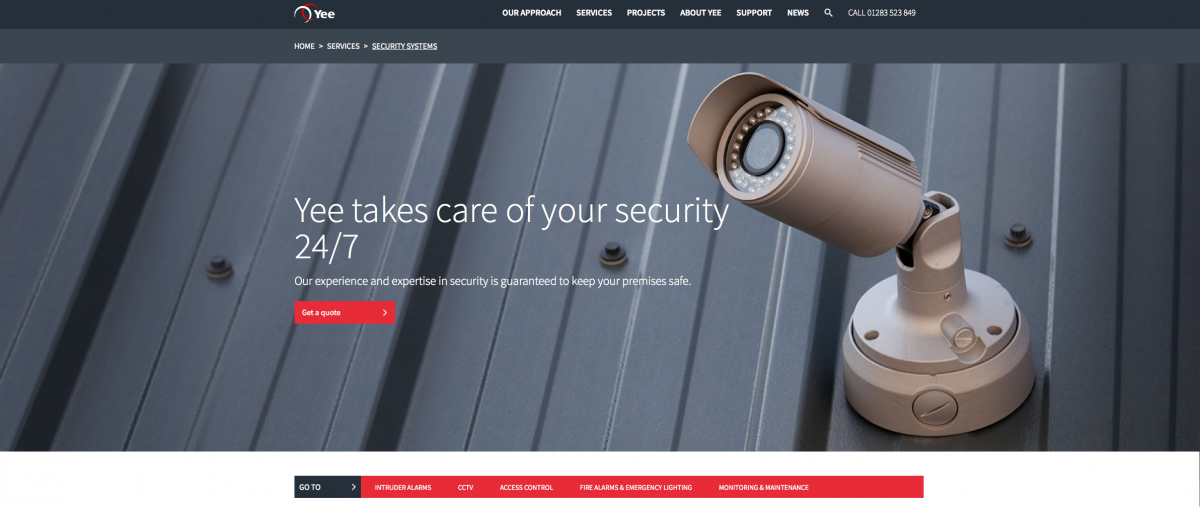 security camera web banner