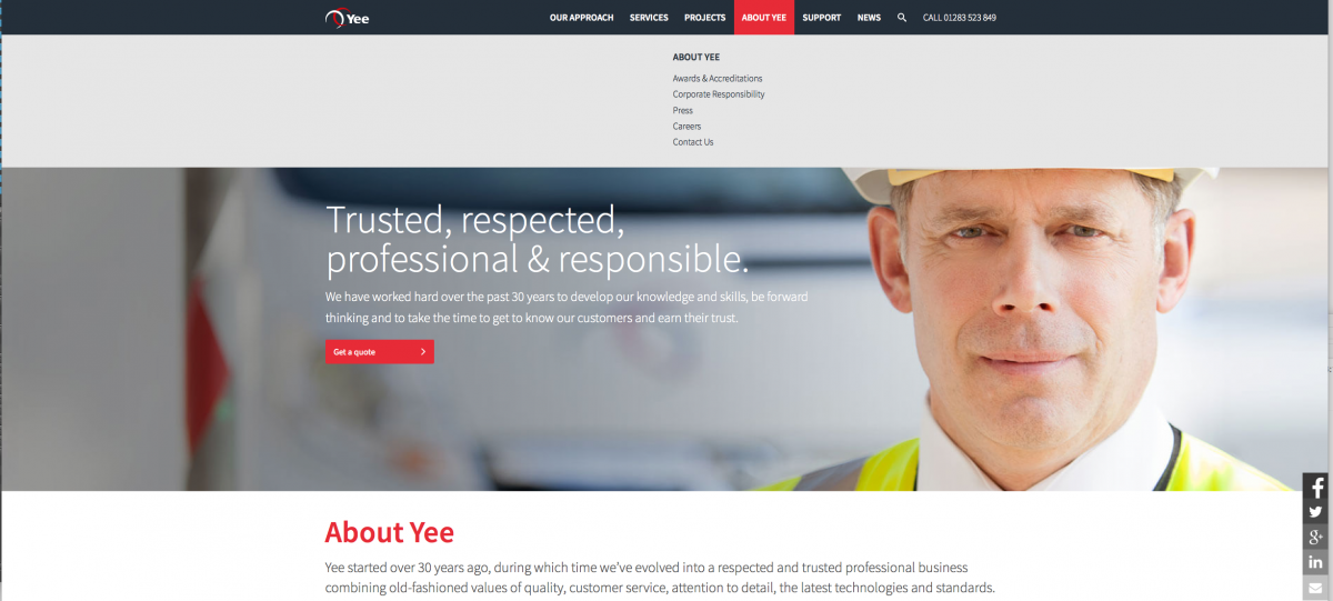 corporate portait web banner
