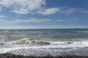 High tide Tywyn Beach Abergele