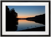 Sunset-over-Llyn-Padarn-black-frame