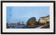 The tower of London, Tower Bridge and London City Hall shot from More London Riverside black frame