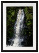 Waterfall Lake Vyrnwy Wales Black frame