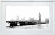 Westminster Bridge and The Houses of Parliament white frame