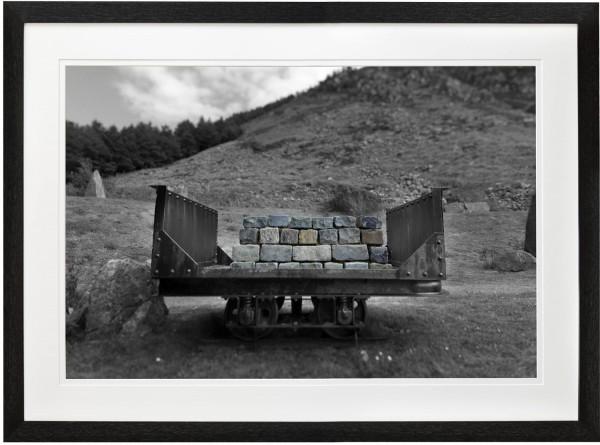 abandoned quarry cart taken at Nant Gwrtheyrn