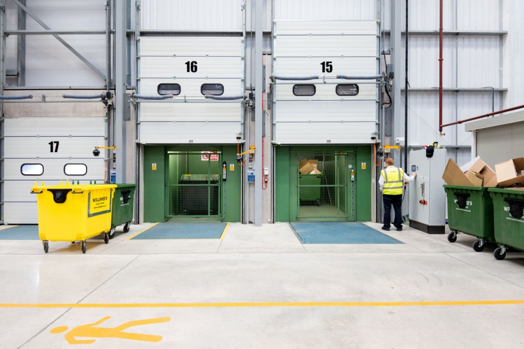 loading bays re purposed for waste disposal
