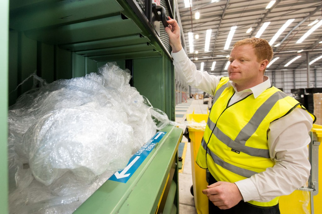 cellophane waste about to be compressed and sent for recycling 1