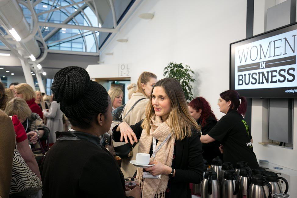 Women networking at women in business event