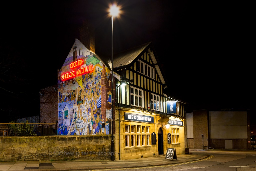 Old Silk Mill Ale and Cider House from Sowter Road Derby