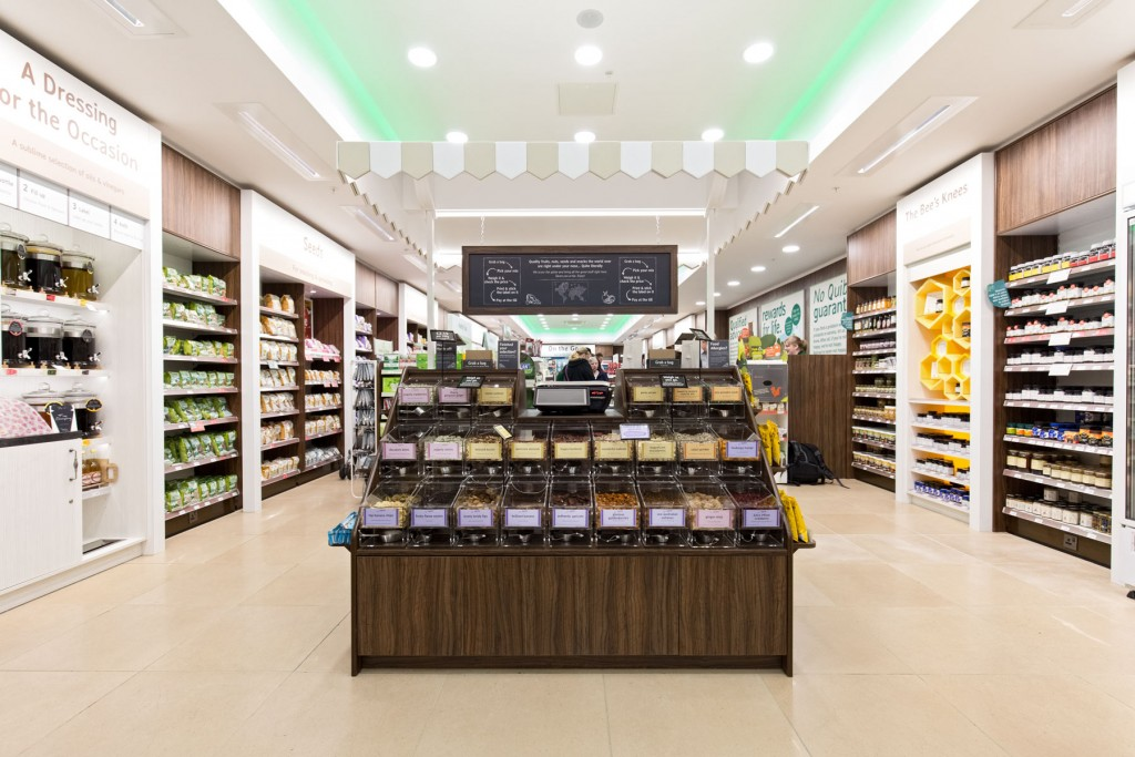 Centre aisle product display fron view