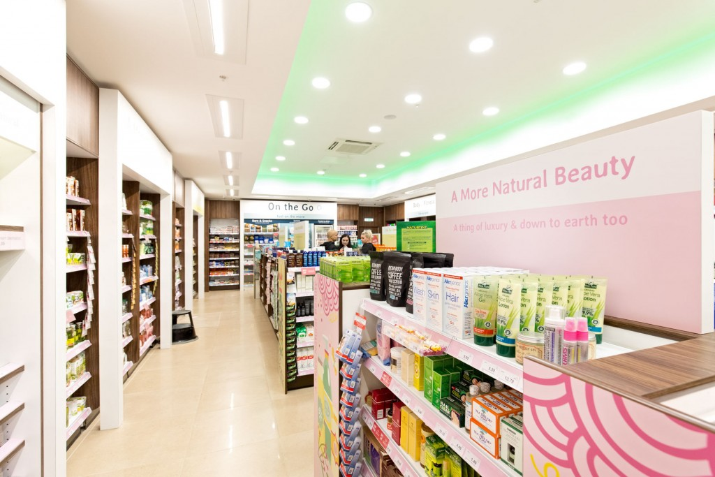 Shop aisle and products