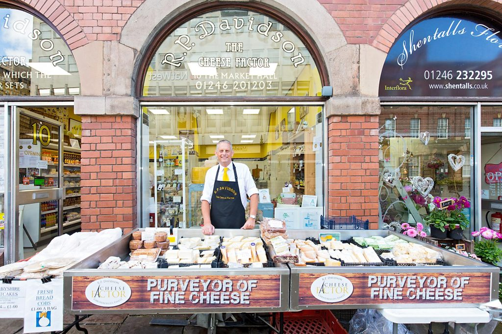 Cheese Factor Shop, Market Hall Chesterfield
