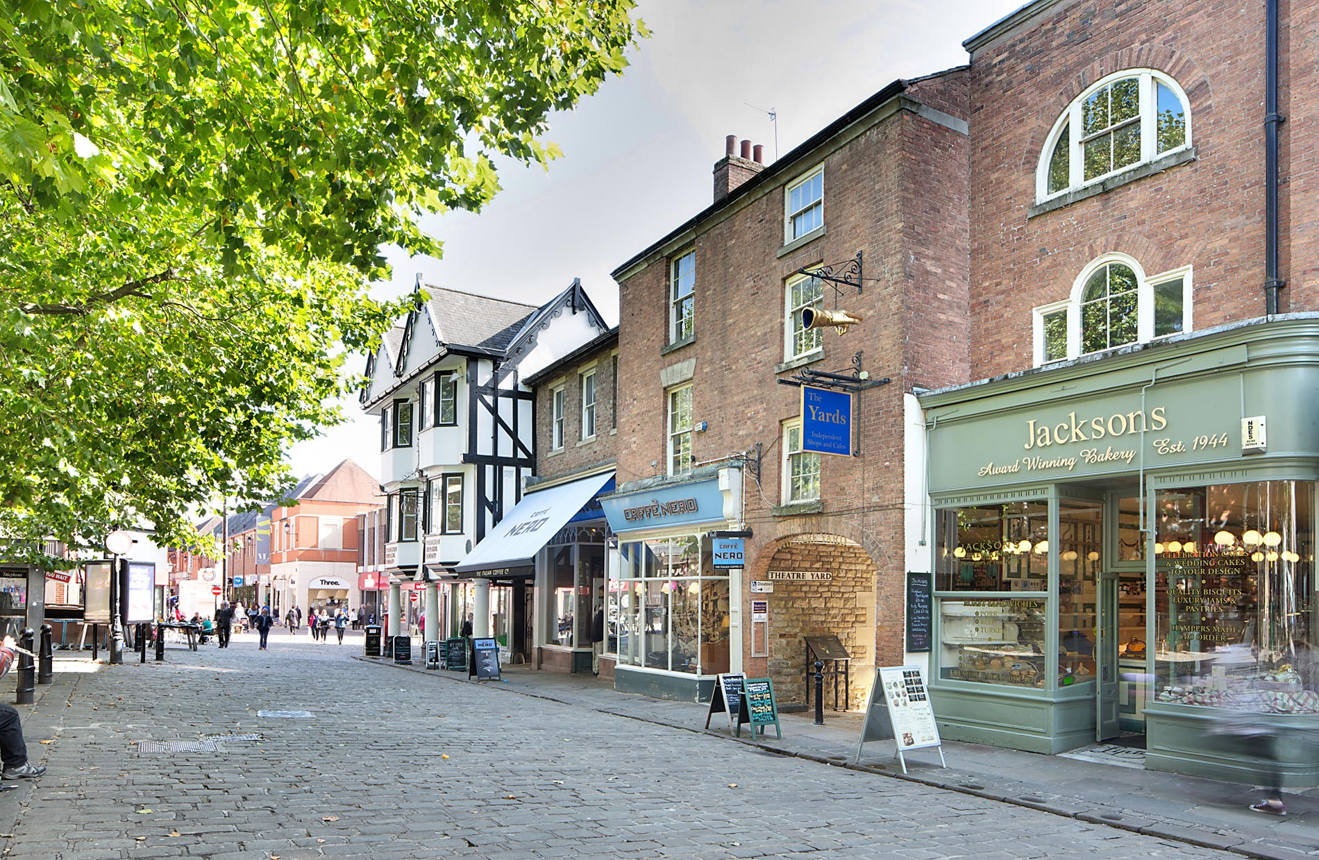 The Yards independent shops, cafes and restaurants in Chesterfield town Centre