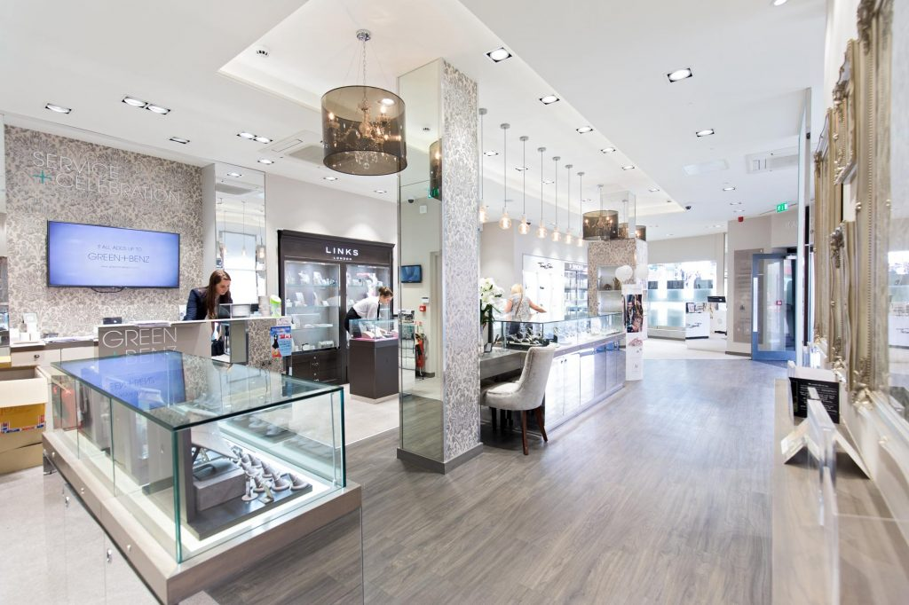 jewellery shop interior architectural photography