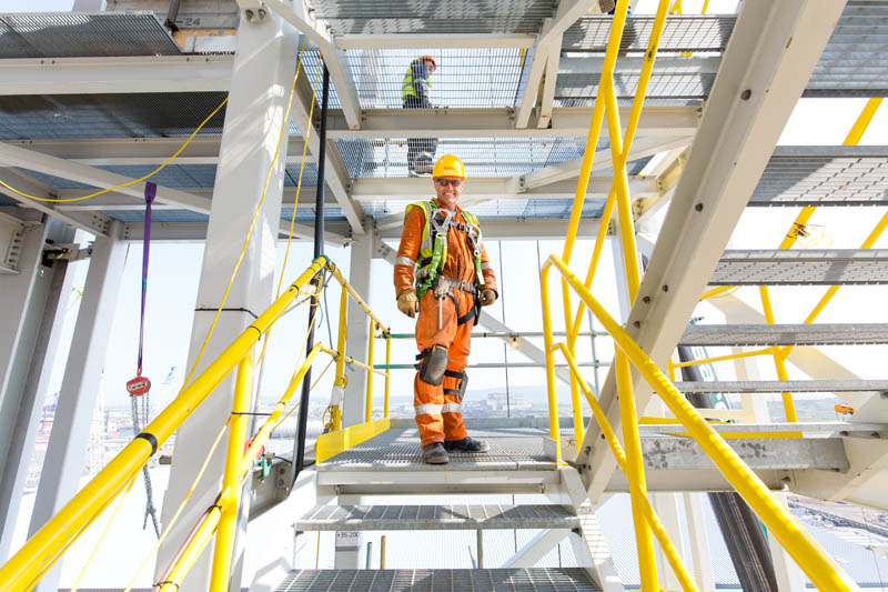 Full length portrait of scaffolder