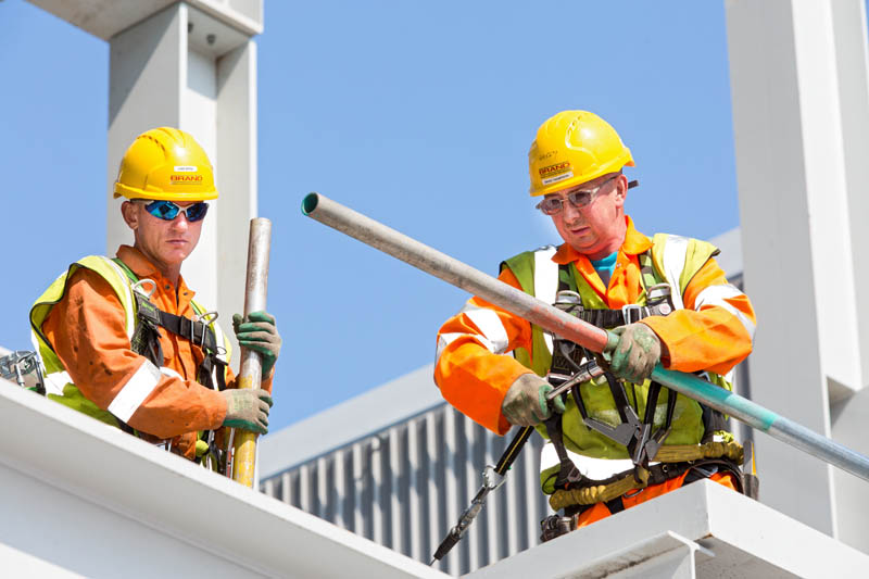 Two scaffolders at work