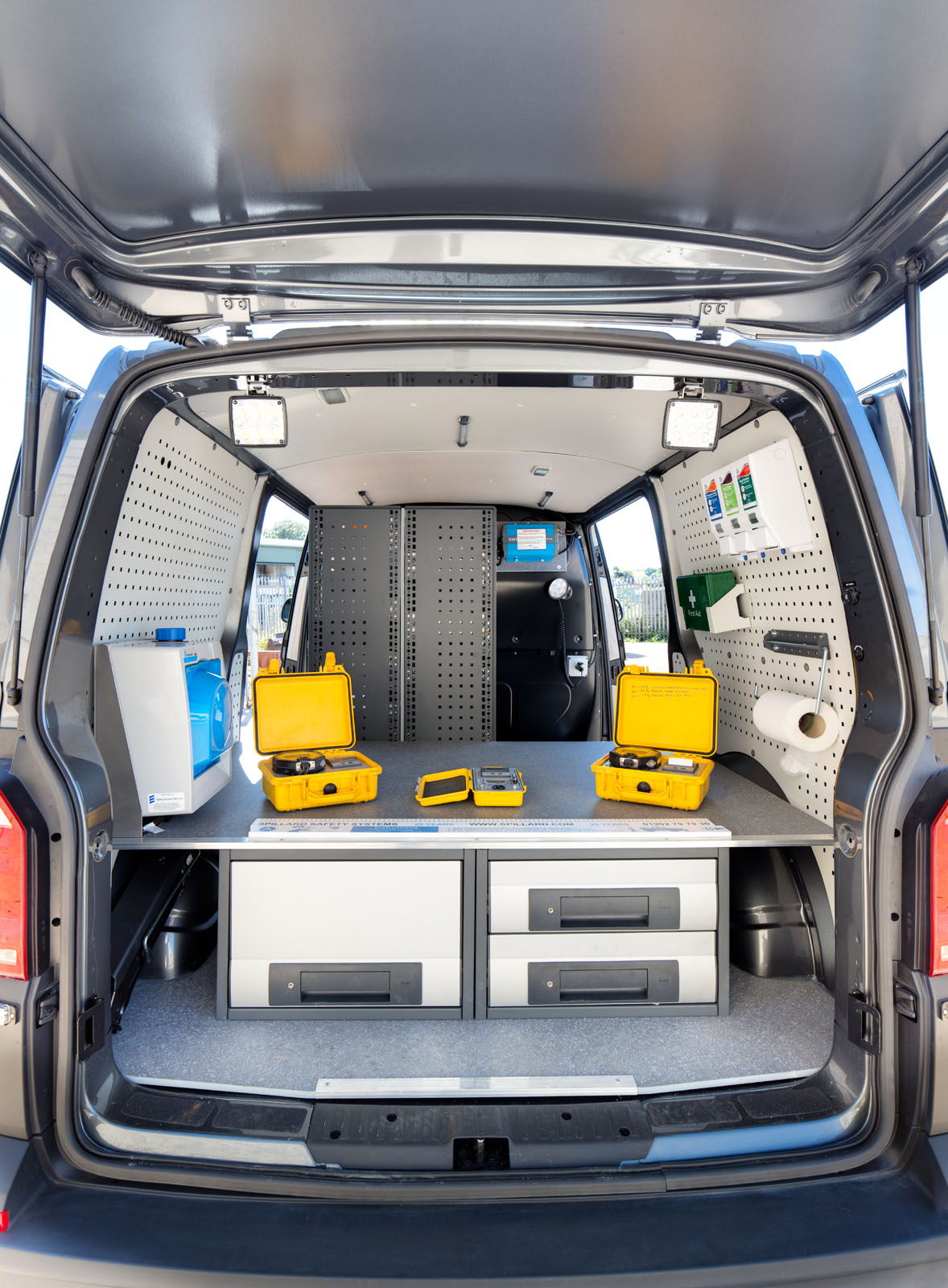 Van interior rear door