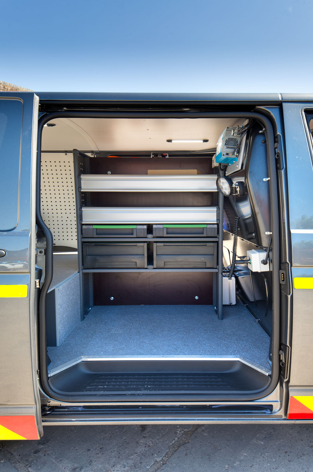 Van interior side door