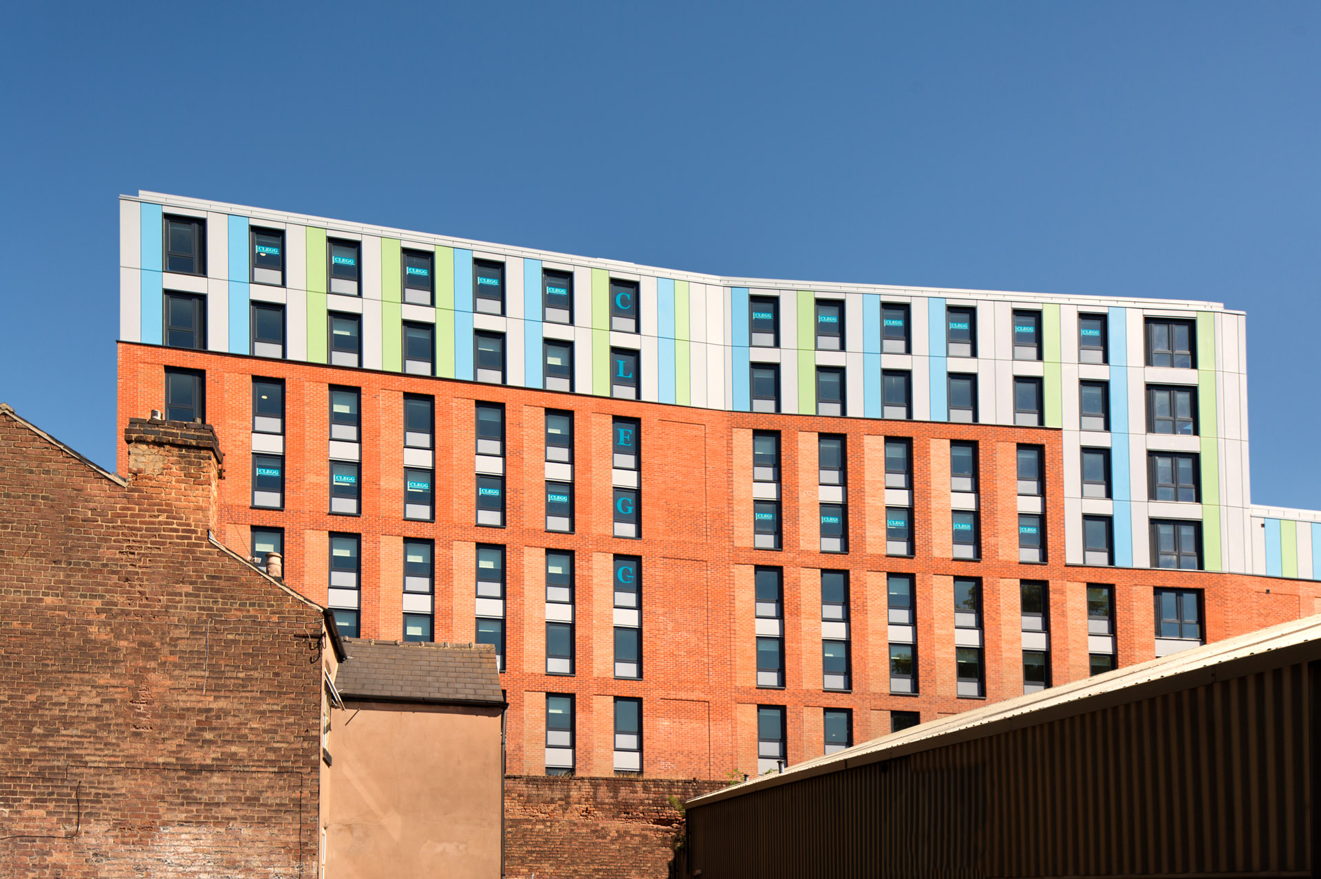 new apartment block, South East elevation