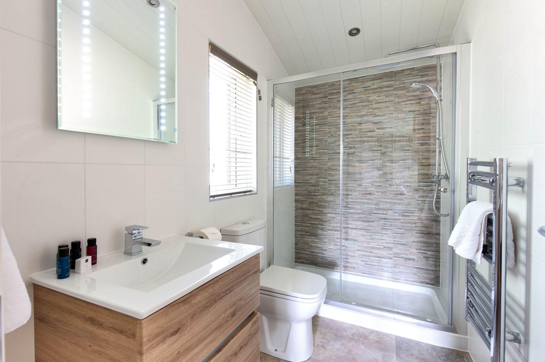 Ensuite with shower and basin