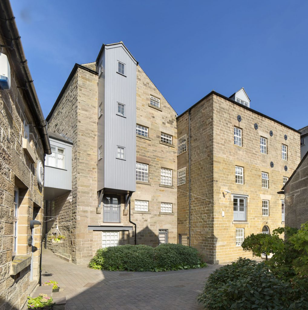 Mill conversion to dwellings, five story building Derbyshire