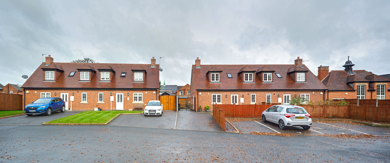 Semi detached single storey residential housing, with accommodation in roof space