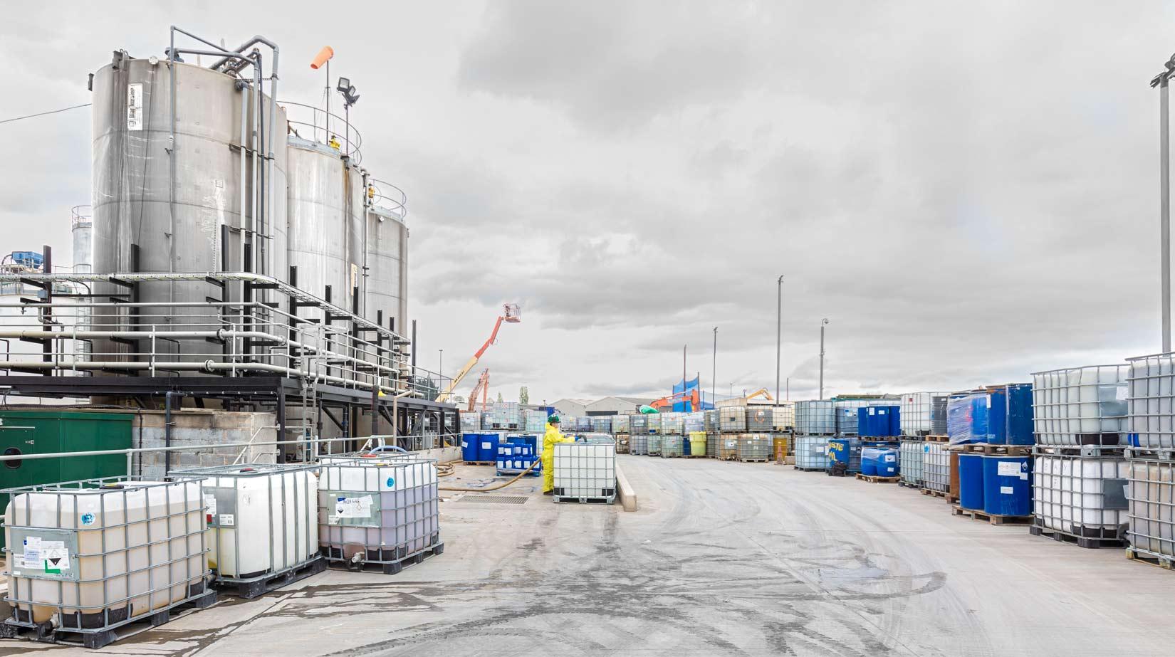 Instrail yard almost monochrome by Industrial Photographer Matthew Jones