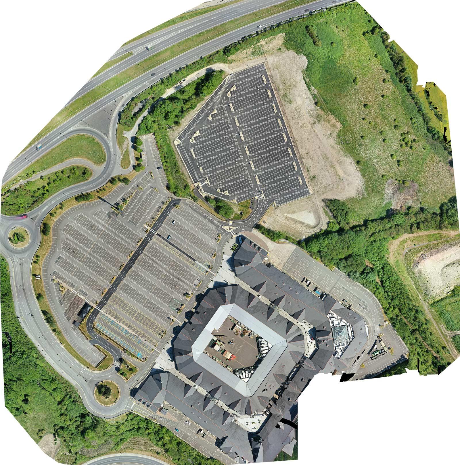 orthomosaic of large carpark